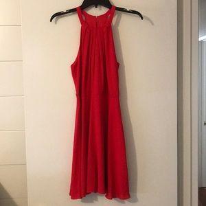 Red Express sleeveless a-line dress